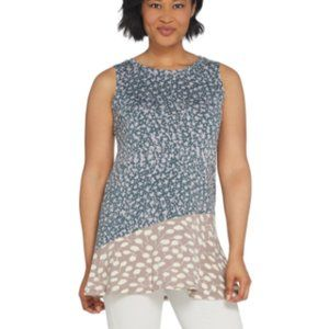 LOGO Printed Knit Tank with Asymmetric Seam
